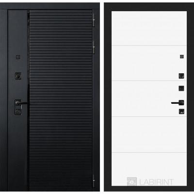 Стальная дверь Лабиринт Пиано 13 (Белый софт)