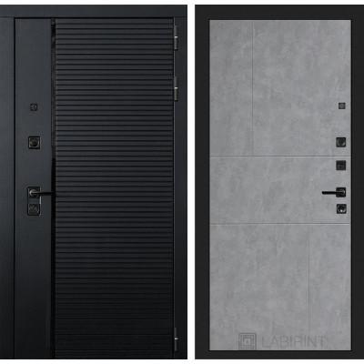 Стальная дверь Лабиринт Пиано 21 (Бетон светлый)
