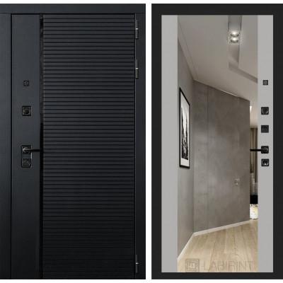 Стальная дверь Лабиринт Пиано Максимум с зеркалом (Грей софт)