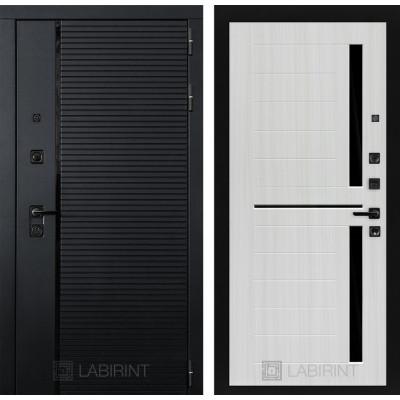 Стальная дверь Лабиринт Пиано 02 (Сандал белый)