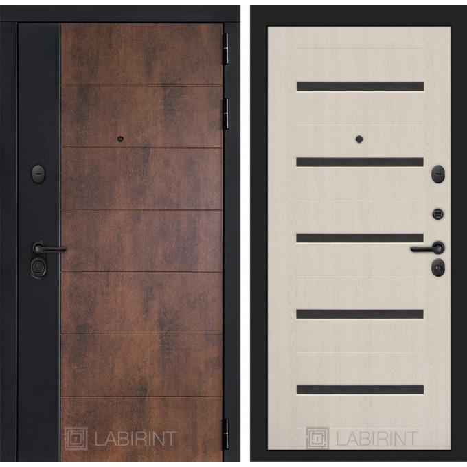 Стальная дверь Лабиринт Техно 01 (Беленый дуб)