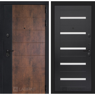 Стальная дверь Лабиринт Техно 01 (Венге)