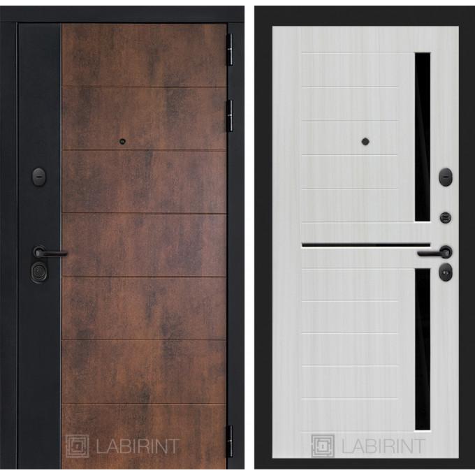 Стальная дверь Лабиринт Техно 02 (Сандал белый)