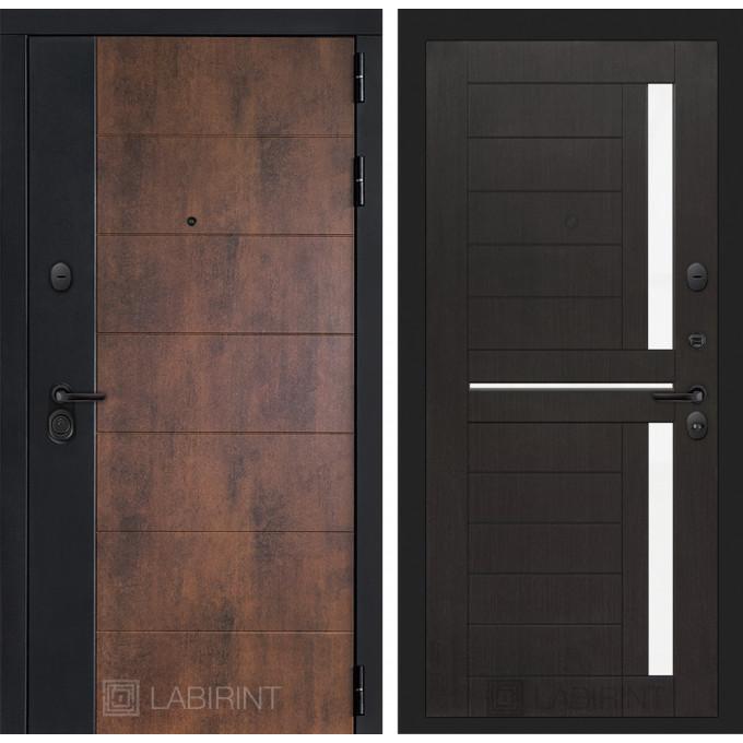 Стальная дверь Лабиринт Техно 02 (Венге)