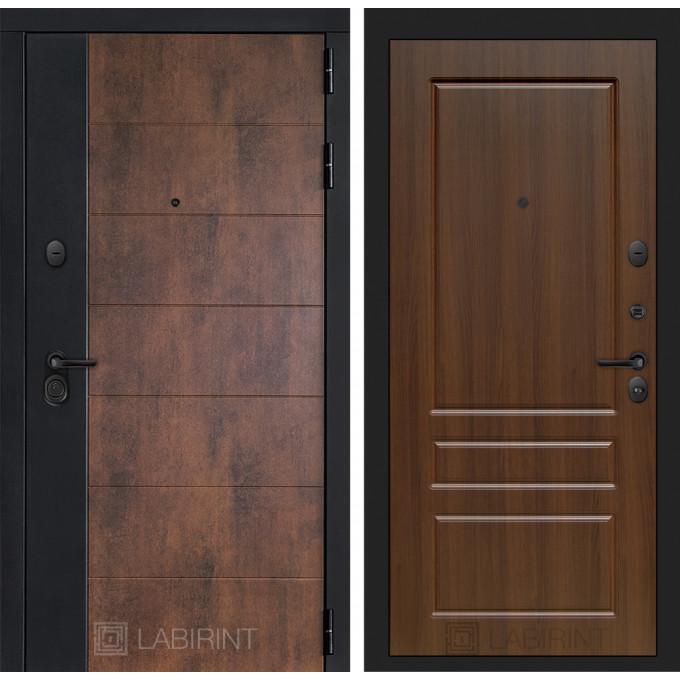 Стальная дверь Лабиринт Техно 03 (Орех бренди)