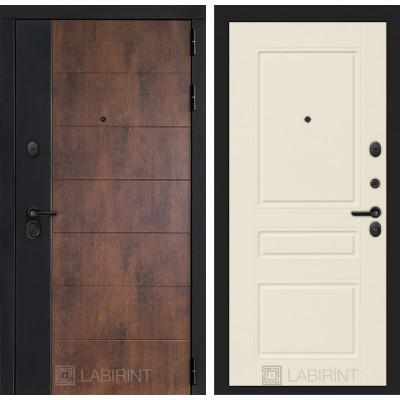 Стальная дверь Лабиринт Техно 03 (Крем софт)