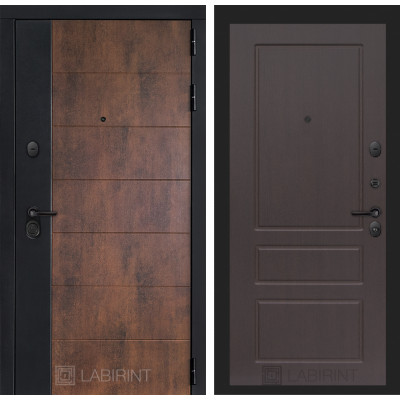 Стальная дверь Лабиринт Техно 03 (Орех премиум)