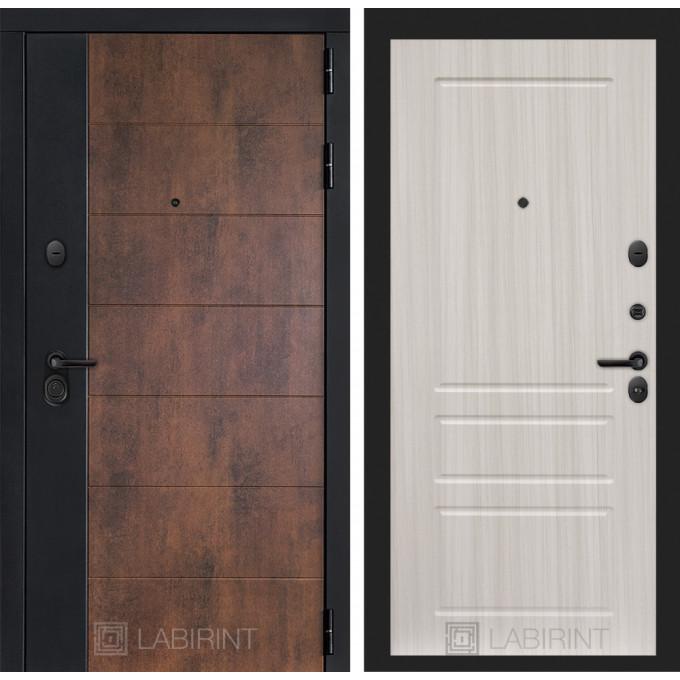 Стальная дверь Лабиринт Техно 03 (Сандал белый)