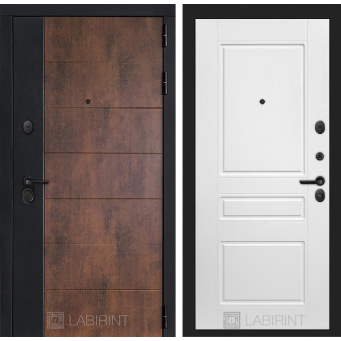 Стальная дверь Лабиринт Техно 03 (Белый софт)