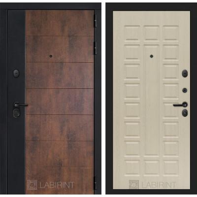 Стальная дверь Лабиринт Техно 04 (беленый дуб)