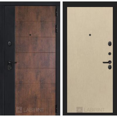 Стальная дверь Лабиринт Техно 05 (Беленый дуб)