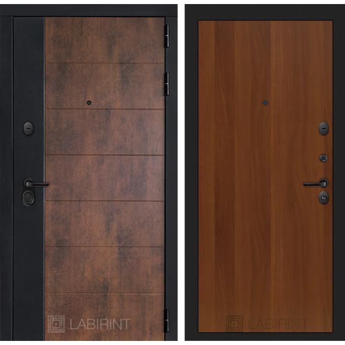 Стальная дверь Лабиринт Техно 05 (Итальянский орех)
