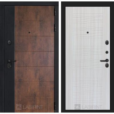 Стальная дверь Лабиринт Техно 06 (Сандал белый)