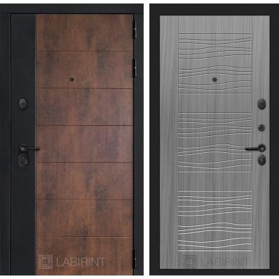 Стальная дверь Лабиринт Техно 06 (Сандал серый)