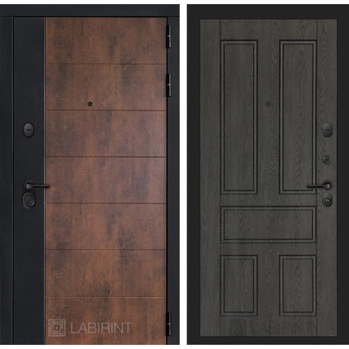 Стальная дверь Лабиринт Техно 10 (Дуб филадельфия графит)