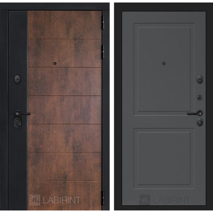Стальная дверь Лабиринт Техно 11 (Графит софт)