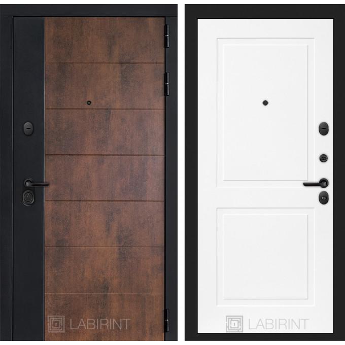 Стальная дверь Лабиринт Техно 11 (Белый софт)
