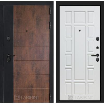 Стальная дверь Лабиринт Техно 12 (Белое дерево)
