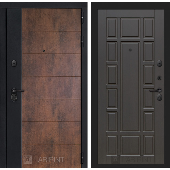 Стальная дверь Лабиринт Техно 12 (Венге)