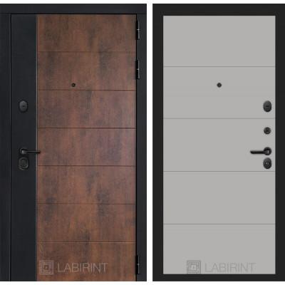 Стальная дверь Лабиринт Техно 13 (Грей софт)