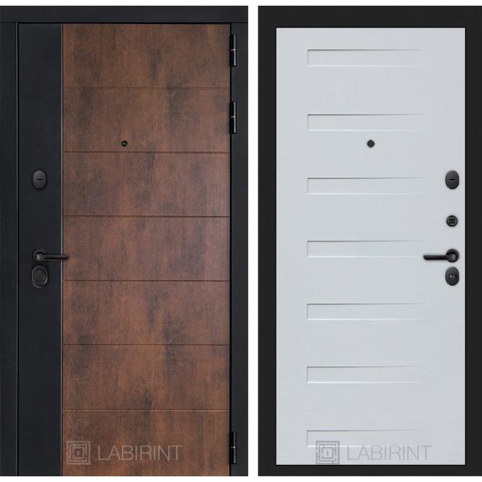 Стальная дверь Лабиринт Техно 14 (Дуб кантри белый)