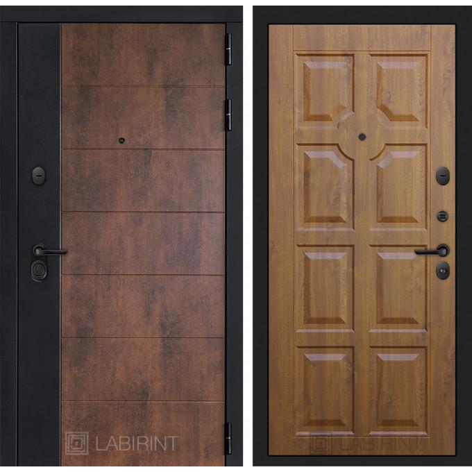 Стальная дверь Лабиринт Техно 17 (Золотой дуб)