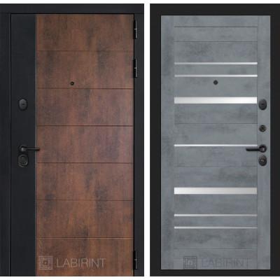 Стальная дверь Лабиринт Техно 20 (Бетон темный)