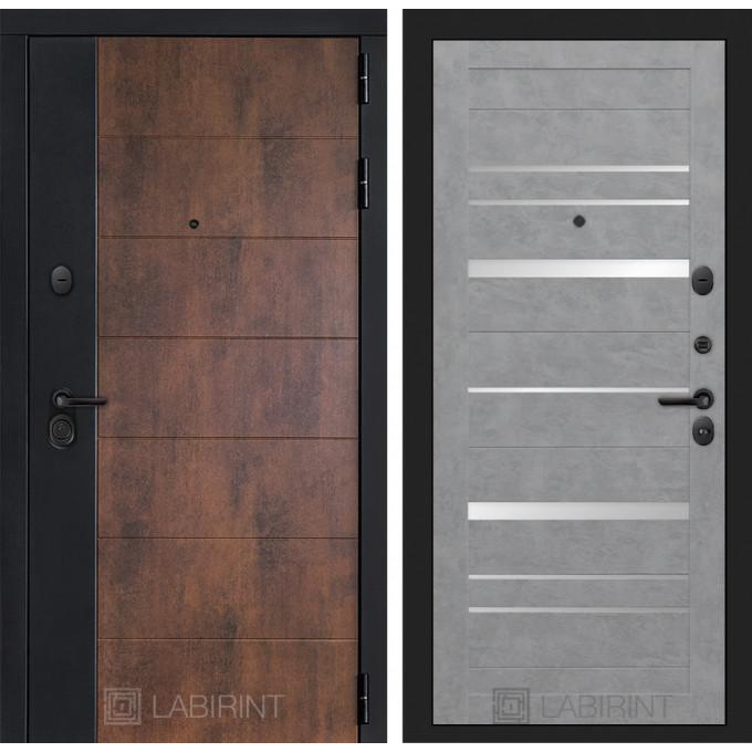 Стальная дверь Лабиринт Техно 20 (Бетон светлый)
