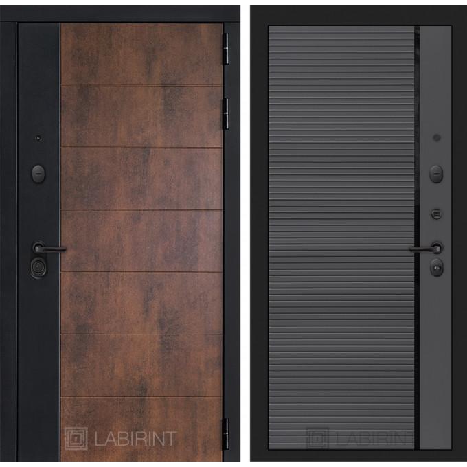 Стальная дверь Лабиринт Техно 22 (Графит софт)