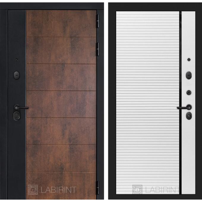 Стальная дверь Лабиринт Техно 22 (Белый софт)