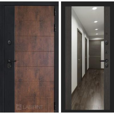 Стальная дверь Лабиринт Техно Максимум с зеркалом (Венге)