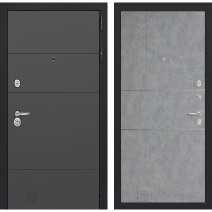 Стальная дверь Лабиринт ART 21 (Бетон светлый)