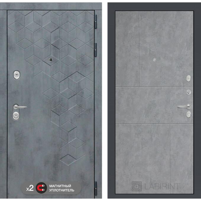 Стальная дверь Лабиринт Бетон 21 (Бетон светлый)