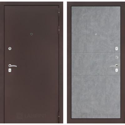 Дверь Лабиринт Classic 21 (Медный антик / Бетон светлый)