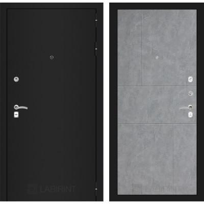 Дверь Лабиринт Classic 21 (Шагрень черная / Бетон светлый)