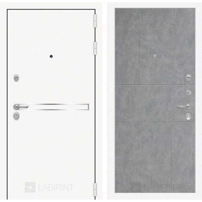 Стальная дверь Лабиринт LINE WHITE 21 (Бетон светлый)