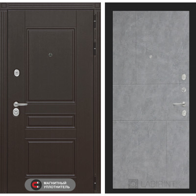 Стальная дверь Лабиринт Мегаполис 21 (Бетон светлый