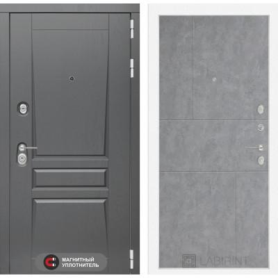 Стальная дверь Лабиринт Платинум 21 (Бетон светлый)