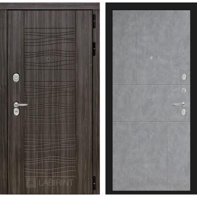 Стальная дверь Лабиринт SCANDI 21 (Бетон светлый)