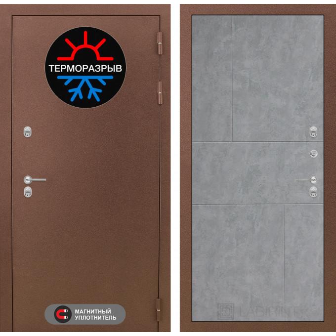 Стальная дверь Лабиринт Термо Магнит 21 (Бетон светлый)
