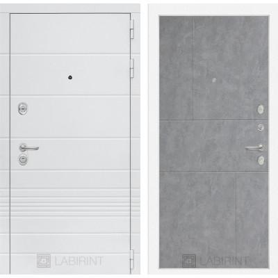 Стальная дверь Лабиринт TRENDO 21 (Бетон светлый)