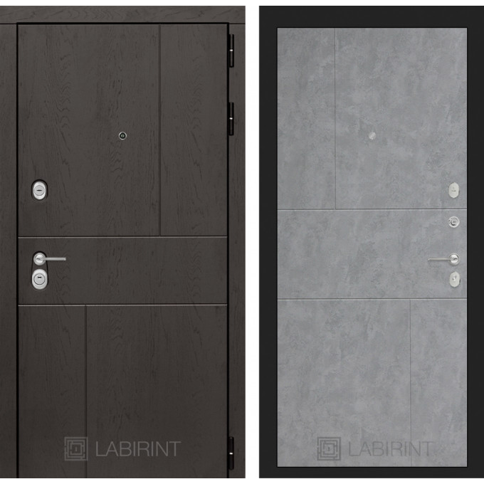 Стальная дверь Лабиринт URBAN 21 (Бетон светлый)