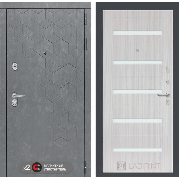 Стальная дверь Лабиринт Бетон 01 (Сандал белый)