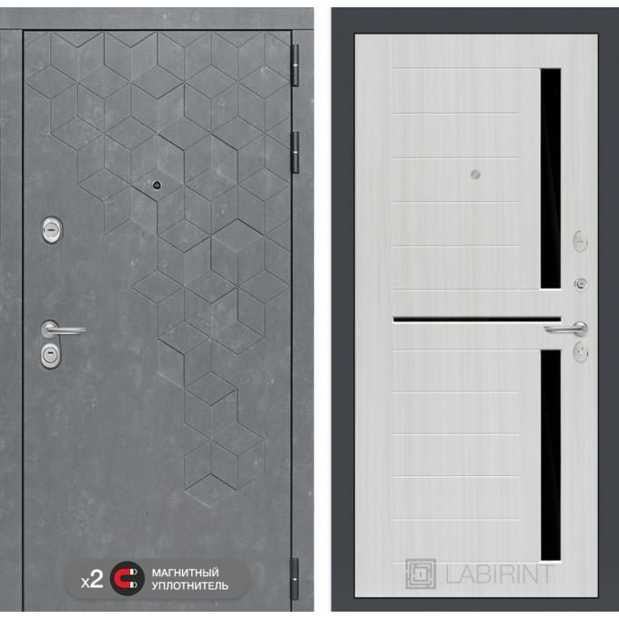 Стальная дверь Лабиринт Бетон 02 (Сандал белый)