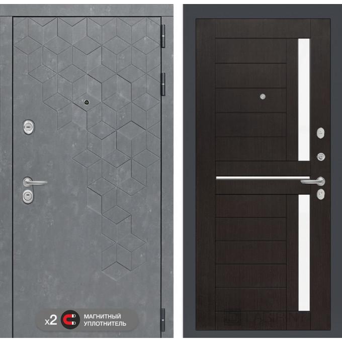 Стальная дверь Лабиринт Бетон 02 (Венге)