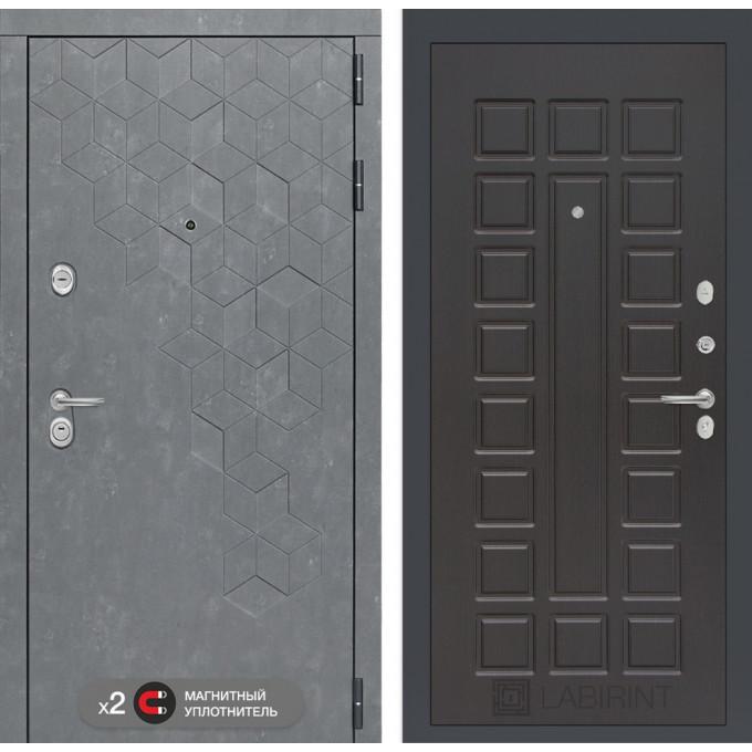 Стальная дверь Лабиринт Бетон 04 (Венге)