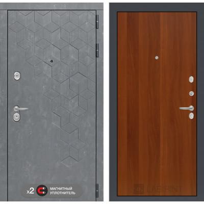 Стальная дверь Лабиринт Бетон 05 (Итальянский орех)