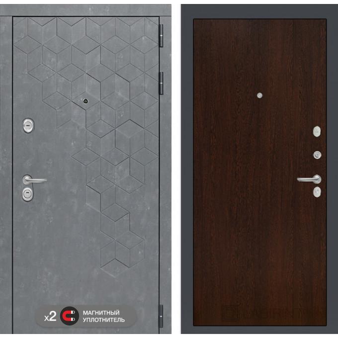 Стальная дверь Лабиринт Бетон 05 (Венге)