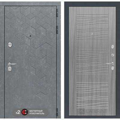 Стальная дверь Лабиринт Бетон 06 (Сандал серый)