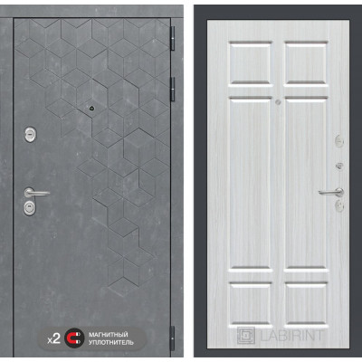 Стальная дверь Лабиринт Бетон 08 (Кристалл вуд)